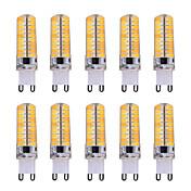 7W G9 LED-kolbepærer T 80 SMD 5730 500-700 lm Varm hvid / Kold hvid Justérbar lysstyrke / Dekorativ V 10 stk.