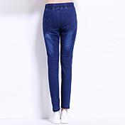 緩いズボンの崩壊のズボン秋のジーンズに署名女性の足は薄いレースの弾性ウエストハーレムカジュアルなズボンでした