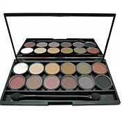 12 Paleta de Sombras de Ojos Brillo / Mineral Paleta de sombra de ojos Polvo Normal Maquillaje de Diario / Maquillaje Smokey