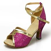 Zapatos de baile (Negro/Azul/Marrón/Rosado/Rojo/Plata/Oro/Leopardo) - Danza latina - No Personalizable - Tacón de estilete