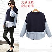 comercio exterior en Europa y América insertos sueltos nueva mancha de color a rayas suéter de abrigo