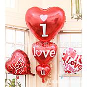 super store tre hjerte I heart you aluminium film ballon bryllup mødested dekoration balloner