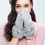 Mujer Lana Para dedos Hasta la Muñeca,Un Color Vintage Bonito Fiesta Casual Primavera Otoño Invierno