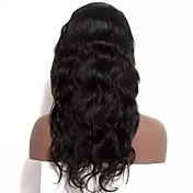 女性 人毛レースウィッグ 人毛 フロントレース グルテンフリーレースフロント 120% 密度 ディープウェーブ かつら ブラック ロング丈 100%手作業縫い付け ナチュラルヘアライン 黒人女性用