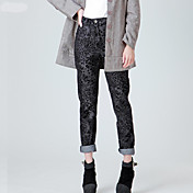 Women's Casual High waist/Plus Sizes Inelastic Medium Jeans Pants (Cotton/Polyester)