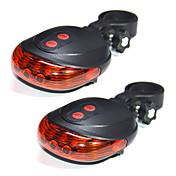 youoklight 2ks 5LED 2laser jízda na kole jízdní kolo světlo 7 blesku varovný bezpečnostní režim zadní svítilny vodotěsné laser zadní