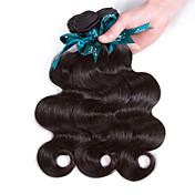 人間の髪編む ブラジリアンヘア ウェーブ 12ヶ月 3個 ヘア織り