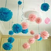 ホーム結婚式のパーティーの車の装飾工芸品のための10pcs 25センチメートル* 25センチメートル安い紙の花のボール
