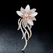 Brože imitace drahokamu Slitina Štras Zlatá Bílá Květiny Šperky Párty Ležérní