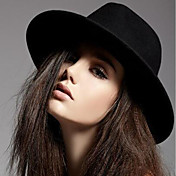 Mujer Sombrero Fedora Vintage Casual-Todas las Temporadas-Mezcla de Algodón Lana Viscosa