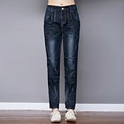 agujero signo pantalones vaqueros flojos femeninos pantalones harén pies pantalones versión coreana de la primavera pantimedias pantalones