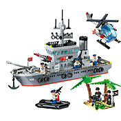 Kit de Bricolaje Bloques de Construcción Juguetes Para regalo Bloques de Construcción Modelismo y Construcción Buque de guerra Barco