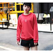 2017新しい春緩い原宿スタイル印刷ヘッジセーターの女性の長袖ラウンドネックカジュアルレッドゴールド