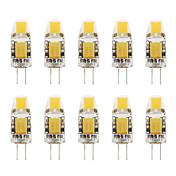 1W G4 LED2本ピン電球 T COB 110-130 lm 温白色 クールホワイト V 10個