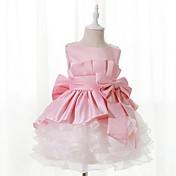 Dívka je Polyester Jednobarevné Patchwork Léto Šaty,Bez rukávů