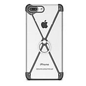 のために スタンド付き バンカーリング ケース バンパー ケース ソリッドカラー ハード アルミニウム のために Apple iPhone 7プラス iPhone 7 iPhone 6s Plus/6 Plus iPhone 6s/6