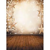1.5×2.1メートルのビニール背景布写真クリスマスファンタジースノーフレーク星