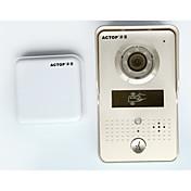 Actop wifi timbre video teléfono de la puerta de la puerta de la cámara inalámbrica interfone con lector de tarjetas RFID para la