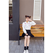 Signo coreano instituto de viento bordado suelta de manga larga camisa