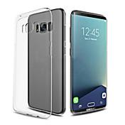 For Ultratyndt Transparent Etui Bagcover Etui Helfarve Blødt TPU for Samsung S8 S8 Plus