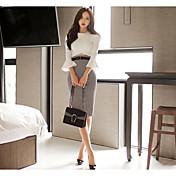 primavera nuevo paquete atractivo punto vestido de la cadera del altavoz de reparación elegante costura