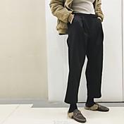 三つ葉サイン暖かいベルベットのハーレムワイドレッグパンツ黒のスーツのズボンストレートジーンズ