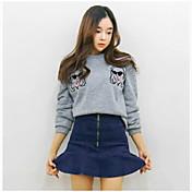 falda de cola de pescado dulce volantes faldas de mezclilla altos bolsillos de cadera culottes falda de mezclilla nuevos
