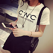 ストリートファッションレターショートスリーブTシャツ女性