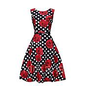 Signo ebay aliexpress explosión modelos retro hepburn viento s50 vestido de falda grande cintura con cinturón