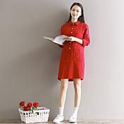 2017年春新文学新鮮な固体カレッジ風ビッグヤードは薄い長袖のドレスだった署名