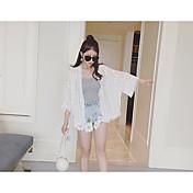 playa resorte de la ropa de protección solar y el verano femenino de Corea suelta chaqueta de punto con flecos capa de la gasa delgada