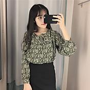 Primavera nuevo tiro coreano real fue el viento de la universidad suelta floja de manga larga floral camisa de encaje camisa de encaje