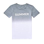 ラウンドネックTシャツスリム半袖Tシャツの潮男性の夏の小さな新鮮な勾配韓国人男性に署名
