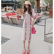 Spot Corea comprar 2017 verano nuevo viento nacional bordado vestido de niña vestido vestido de hendidura
