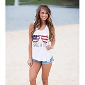 Aliexpress eaby europeos y americanos comercio explosión modelos blusas 2016 nuevos dibujos animados impreso chaleco camiseta