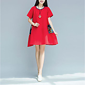 スポットの本物の夏2017混合色のレトロなポケットの綿の半袖の長いセクションの新しい大きなサイズの韓国版
