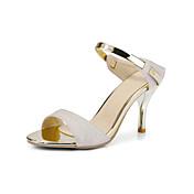 Da donna-Sandali-Matrimonio Ufficio e lavoro Formale-Club Shoes-A stiletto-PU (Poliuretano)-Bianco Beige Rosa