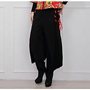 春の新しい国の風の綿のレースのパンツの足のズボンのハーレムパンツライトレトロアート