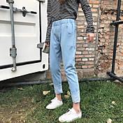 la nueva oportunidad real era delgada pantalones vaqueros del agujero sueltos coreano pantimedias bf cross pantalones femeninos del harem