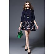 スポットリアルショット-2017新しい春のファッションモデル大きなヤードの短い袖のラインのスカートは薄い裏地だった