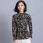 Signo nuevo primavera 2017 floral camisa de gasa fina delgada capa femenina
