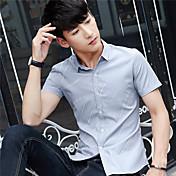 男性の半袖シャツスリム韓国の十代の男性の半袖シャツ学生の夏の服の傾向