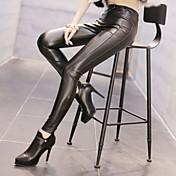 Dame Solid Ensfarvet Legging Rayon Denne type er nøjagtig i størrelsen,