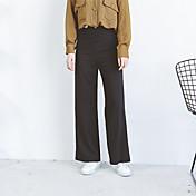 firmar personalizado 2017 de primavera se pantalones de cintura delgada hebilla redonda de oro femenina