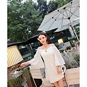 firmar la falda del vestido de la marca de marea Tailandia encaje sin espalda vestido de fiesta diosa playa atractiva sin tirantes