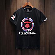 ヨーロッパとアメリカの男性と女性のカップルカジュアルラウンドネック半袖Tシャツのブランドをタイド