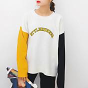 Firman la versión coreana de la nueva universidad de la juventud de la juventud bordó las letras del color del encanto golpearon el suéter