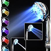 現代風 ハンドシャワー クロム 特徴 for  LED レインフォール 環境に優しい , シャワーヘッド