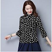 Vestido de tarde de manga 2017 primavera y el verano camisa de vestir de la señorita Tang Zhuang étnico chino