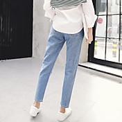 coreano bf viento cintura costura jeans rectos estudiante resultó primavera delgada nueva marea delgada pantimedias